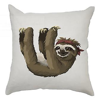 Sloth Cushion Cover 40cm x 40cm - Sloth With Bandana