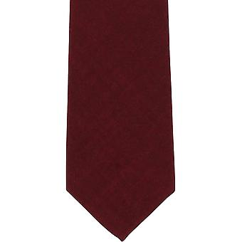 Michelsons of London Plain Wool Tie - Wine