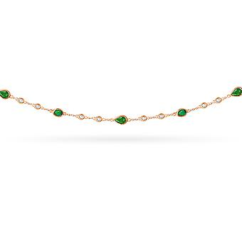 Choker Greta 18K Gold Diamonds and Ruby | Emerald | Sapphire