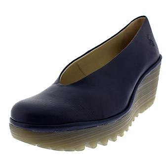 Womens Fly London Yaz Mousse Leather Wedge Heel Work Summer Casual Shoes