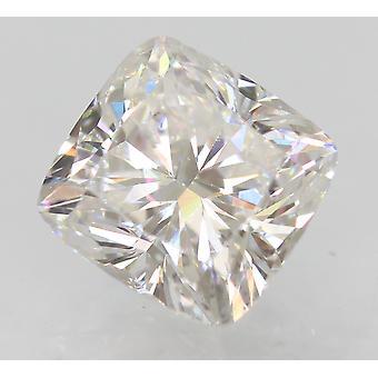 معتمد1.02 قيراط D VVS2 وسادة تعزيز الماس الطبيعي فضفاضة 5.99x5.76mm