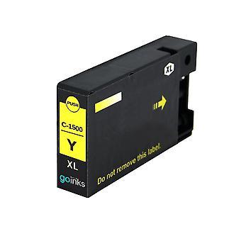1 Cartuccia inchiostro giallo per sostituire Canon PGI-1500XLY Compatibile/non OEM da Go Inks