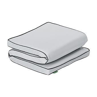 Cojín de asiento Gardenista para el banco Keter Iceni 128cm x 50cm x 5cm Cojín resistente al agua Plegable para un fácil almacenamiento ? Ultra cómodo y duradero (gris)