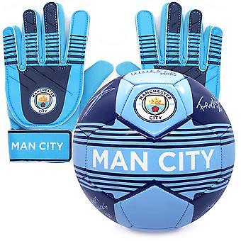 Manchester City FC Lahjasetti Allekirjoitus Jalkapallo & Maalivahti Maalivahti Käsineet