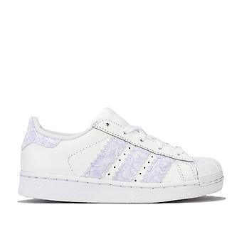Girl's adidas Originals Children Superstar Trainers in White
