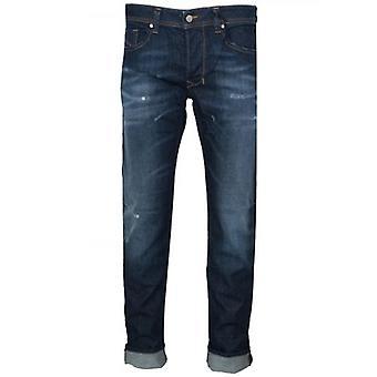 Diesel Regular Straight Distressed Larkee Blue Rinse Jean