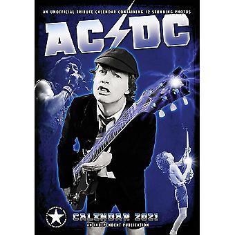 AC/DC Calendar 2021 Tribute Calendar A3, wall calendar 2021, 12 months, original English version.