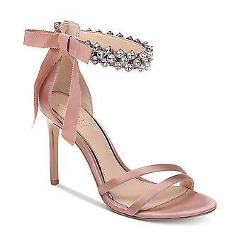BADGLEY MISCHKA Womens Debra Fabric Open Toe Special Occasion Ankle Strap San...