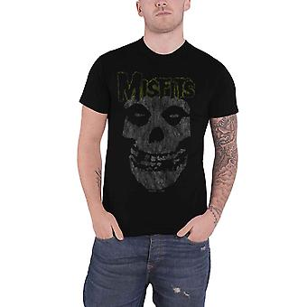 Misfits T Shirt Classic Vintage Band Logo distressed new Official Mens Black