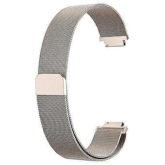 עבור Fitbit Inspire / 2 / HR / אייס 2 רצועה מילנזית רצועה נירוסטה מגנטית[קטן (5.3&-7.9&),רוז זהב]