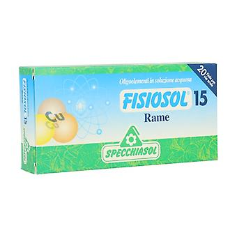 Fisiosol 15 Rame 20 ampoules