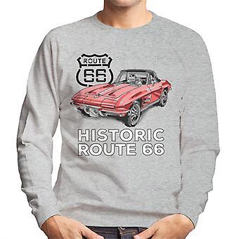 Route 66 Historic Sports Car Men's Sweatshirt