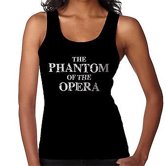 The Phantom Of The Opera Shattered Text Logo Women's Vest