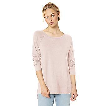 العلامة التجارية - طقوس اليومية المرأة & ق دافئ متماسكة مفتوحة Crewneck Pullover، الوردي، X ...