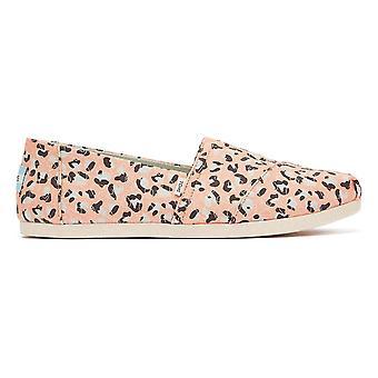 TOMS Alpargata Pebbled Leopard Womens Pink Espadrilles