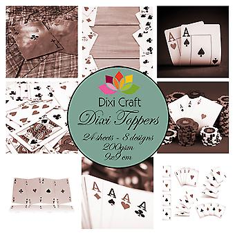 Dixi Craft Playing Cards Brown 9x9cm Toppers