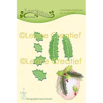 Leane Creatief Leabilities Cutting Dies - Holly & Pine Branches Small