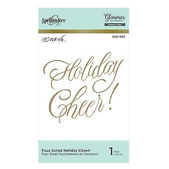 Spellbinders Faux Script Holiday Cheer! Hot Foil Plate