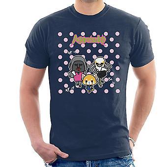 Aggretsuko Gori Washimi Retsuko Pink Polka Dots Men-apos;s T-Shirt