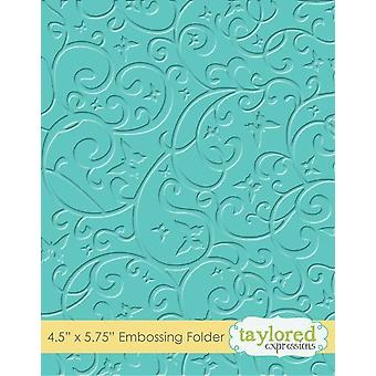 Taylored Expressions Butterfly Swirls Embossing Folder