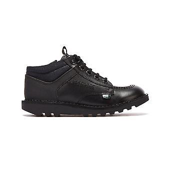 Kickers Kick Hi Flex Junior Black Shoes