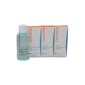 Lancaster Skin Life set-Eye Cream, primer dag crème, Cleanser