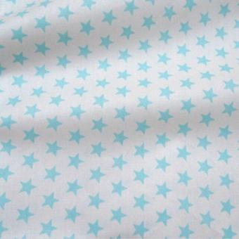 Stars Printed Cotton Fabric For Diy Sewing Bed Sheet, Quilting, Dressmaking