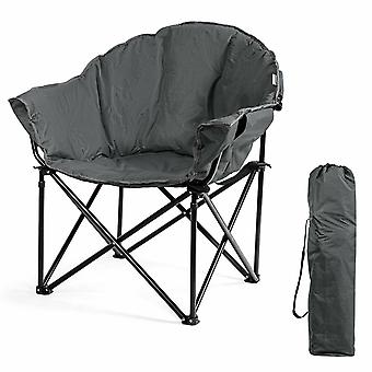 Folding Camping Chair Padded Potable Garden Patio Chair Outdoor Moon Chair W/bag