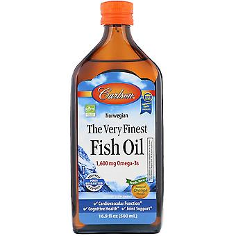 Carlson Labs, Norwegian, The Very Finest Fish Oil, Natural Orange Flavor, 1,600