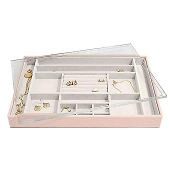 Stackers Blush Pink Supersize Ring & Accessories Layer With Display Lid