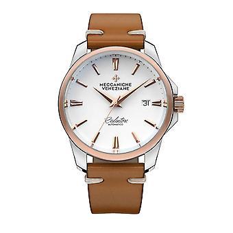 Meccaniche Veneziane 1301020 Redentore Automatic Rose Gold Tone Bezel Wristwatch