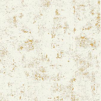 Industrieel beton behang Metallic Gold / Wit AS Creation AS230775