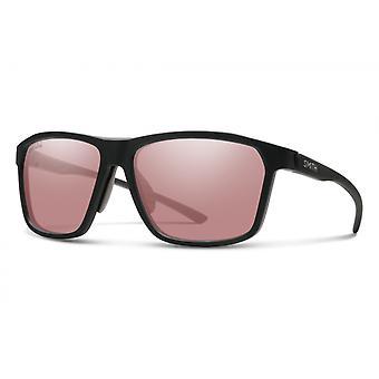 Zonnebril Unisex Pinpoint mat zwart/roze