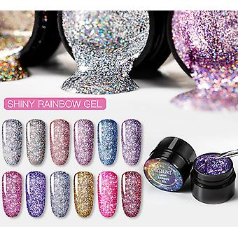 Nail Polish, Rainbow, Neon Hybrid Varnishes For Nails Manicure Makeup