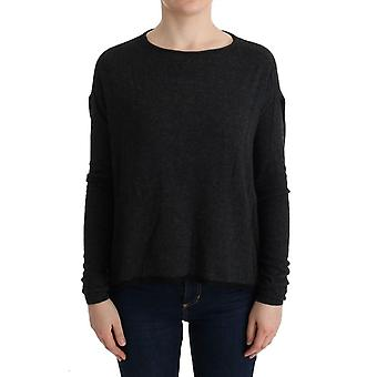 Gray Viscose Knitted Sweater TUI10017-1