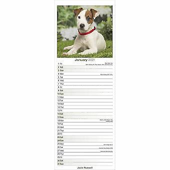 Otter House 2021 Slim Calendar-jack Russell