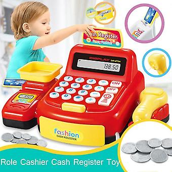 Simulated Supermarket Checkout Counter - Role Cashier Cash Register Toy