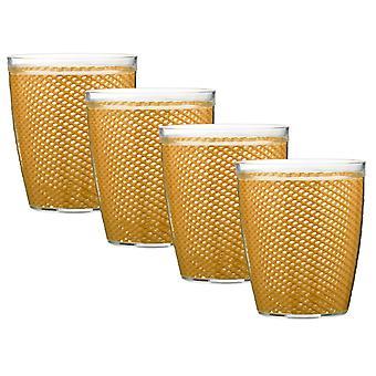 Fishnet 14 Oz Golden Doublewall Drinkware Set/4