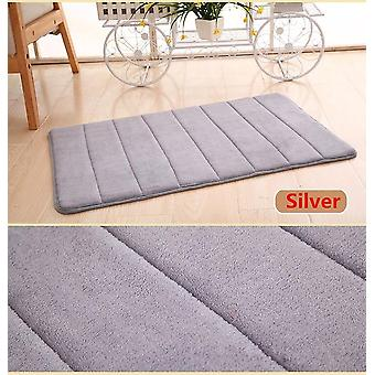 New 40x60cm Home Bath Mat, Non-slip Carpet, Soft Coral Fleece Memory Foam Rug