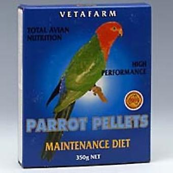 Papukaija pelletti Maint ruokavalio 350g Vetafarm