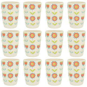 Tiny Dining Children's Bamboo Fibre Juice Cup - Flower - Pack of 12