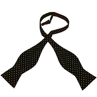 Krawatten Planet Gold Label schwarz & weiß Polka Dot gedruckt Seide Männer's selbst Krawatte Fliege