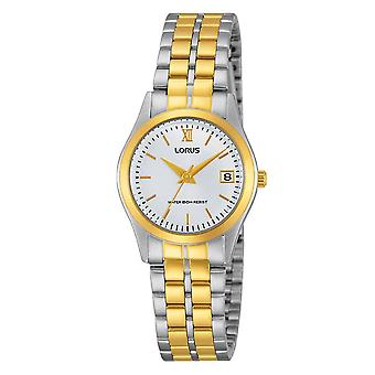 Lorus Damen klassische Zwei-Ton-Armband-Uhr mit Gold römischen Ziffern (RH770AX9)