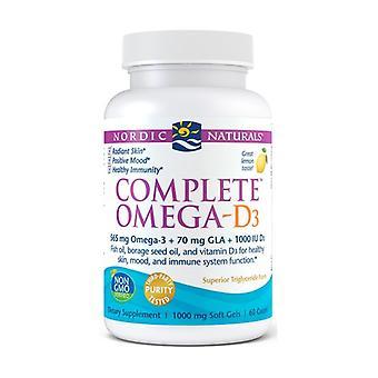 Complete Omega-D3, 565mg Lemon 60 softgels