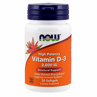 Agora alimentos vitamina D-3, 2000 UI, 30 Softgels