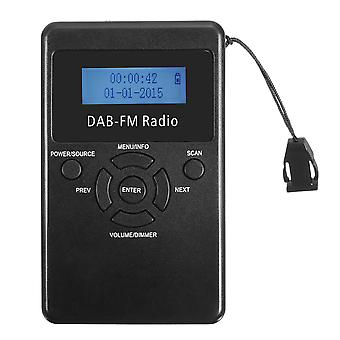 FM/DAB Radio Portable Digital Audio Broadcasting Rechargeable Receiver Headphone