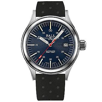 BALL NightBreaker Automatic Blue Dial Black Rubber Strap Mens Watch NM2188C-P13-BE