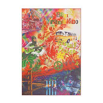 Flash Matta 2702 Flerfärgad SanFran 120x170cm