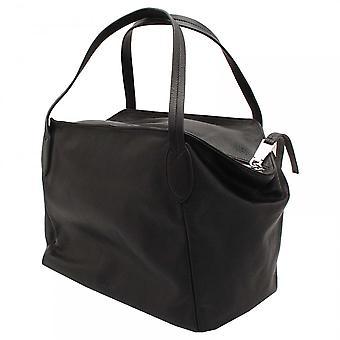 Abro Soft Black Studded Leather Handbag