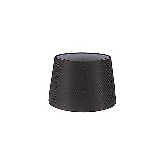 Araminta Round, 350/450 X 280mm Fabric Shade, Charcoal Grey/white Laminate